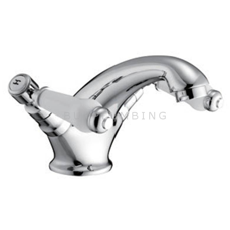 Hygienic Bathrooms Mono Basin Mixer With Sprung Waste (6202)