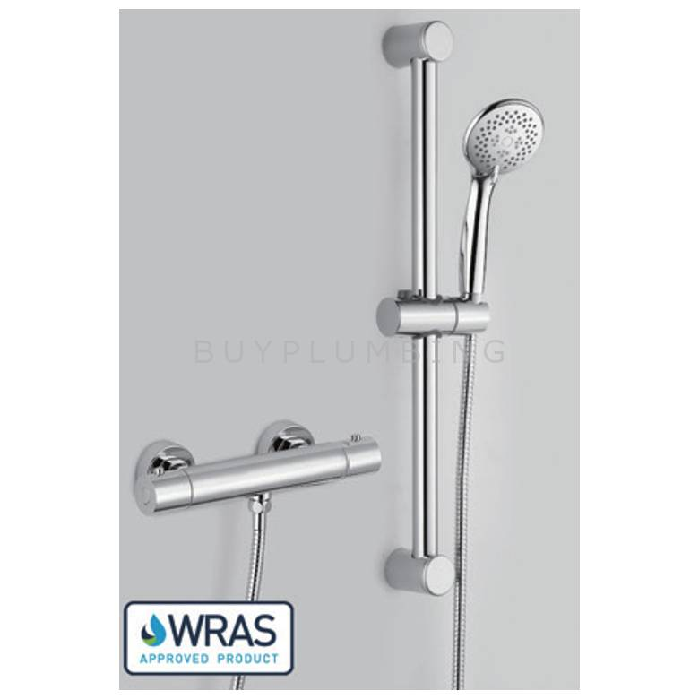 Hygienic Bathrooms Thermostatic Shower Mixer With Slide Rail Kit (62303)