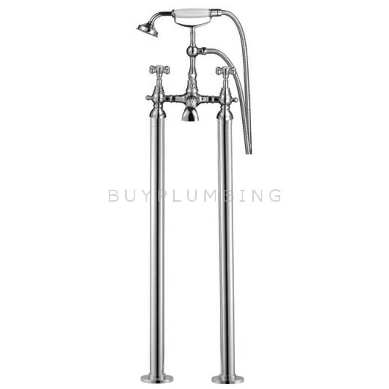 Hygienic Bathrooms Freestanding Bath Shower Mixer With Shower Kit