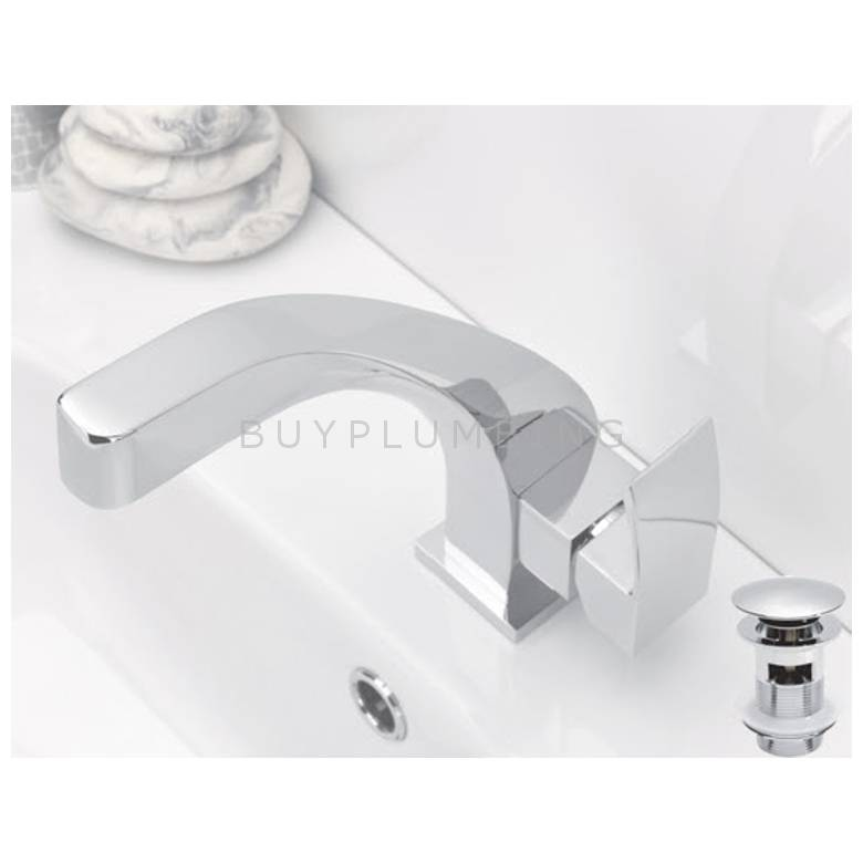 Hygienic Bathrooms Basin Mono Mixer With Sprung Waste