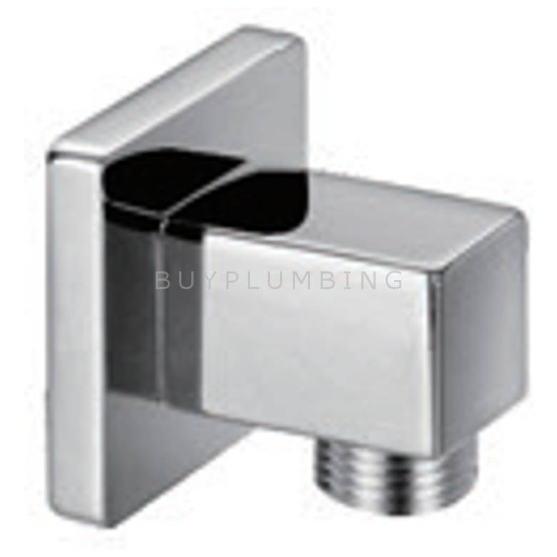 Hygienic Bathrooms Square Wall Outlet Elbow