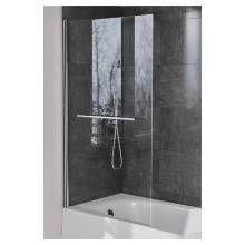 Hygienic Bathrooms Bath Swing Door Square Panel With Towel Bar H1400 x W800mm