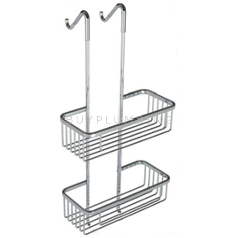 Hygienic Bathrooms 2 Tier Double Caddy Storage Rack With Rectangular Baskets (CB30)