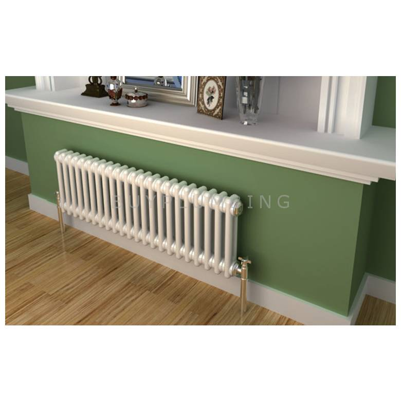 Hygienic Bathrooms Traditional 64 Bar Horizontal Column Radiator H300 x W1428 (White) (CD30142W)