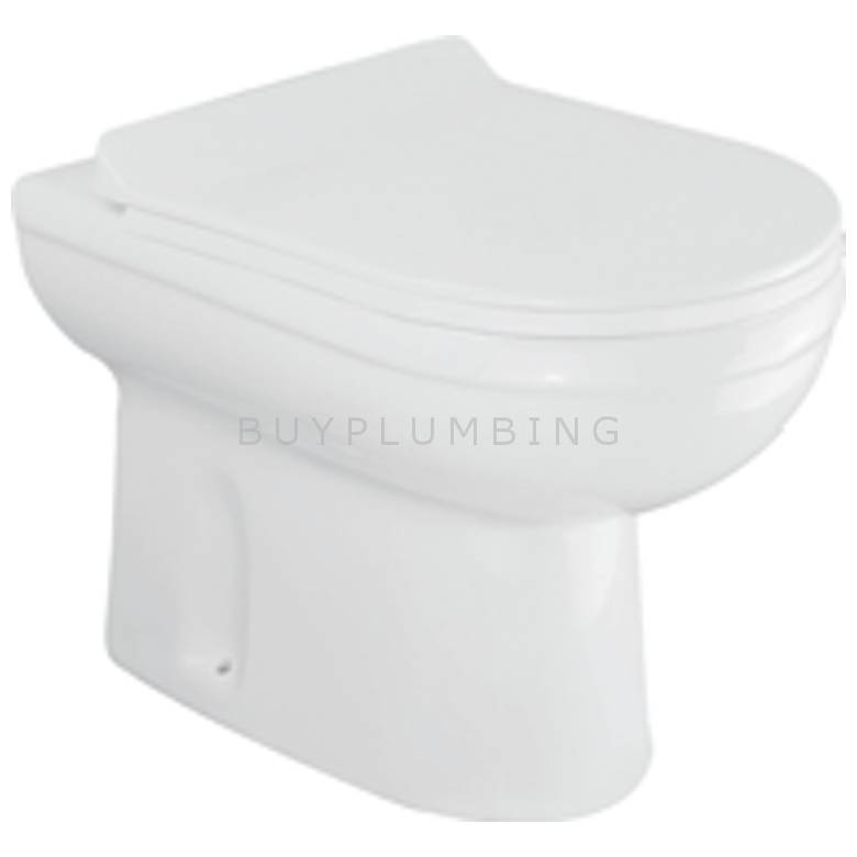 Hygienic Bathrooms Back To Wall Toilet Pan With Soft Close Seat (DL-201)