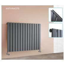 Hygienic Bathrooms 8 Bar Horizontal Single Flat Panel Designer Radiator H600 x W604mm (Anthracite)