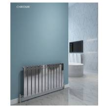 Hygienic Bathrooms 8 Bar Horizontal Single Flat Panel Designer Radiator H600 x W604mm (Chrome) (FH6060C)