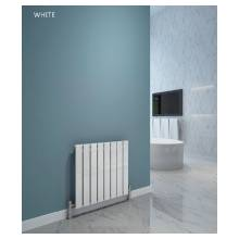 Hygienic Bathrooms 8 Bar Horizontal Single Flat Panel Designer Radiator H600 x W604mm (White)