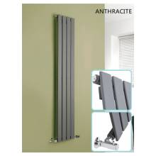 Hygienic Bathrooms 4 Bar Vertical Single Flat Panel Designer Radiator H1800 x W300mm (Anthracite)