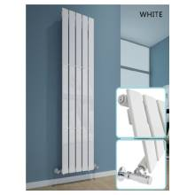 Hygienic Bathrooms 4 Bar Vertical Single Flat Panel Designer Radiator H1800 x W300mm (White)