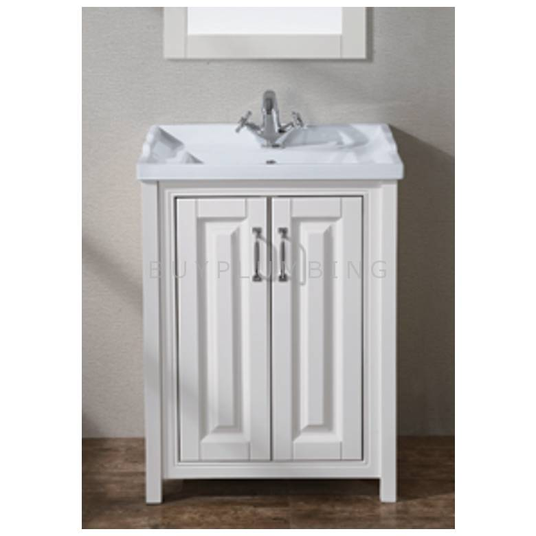 Hygienic Bathrooms Hilton Ivory Two Door Cabinet With Basin H820 x W600mm