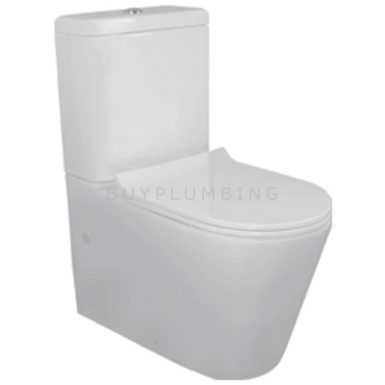 Hygienic Bathrooms Close Coupled Toilet Pan & Cistern With Slim Soft Close Seat (IVK08)