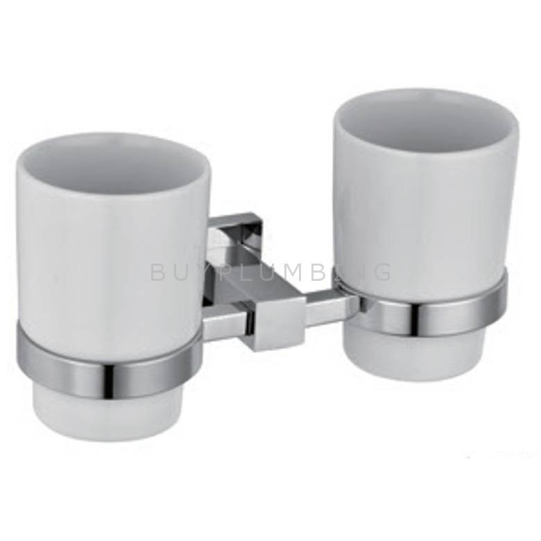 Hygienic Bathrooms Tumbler Holder & Double Cup