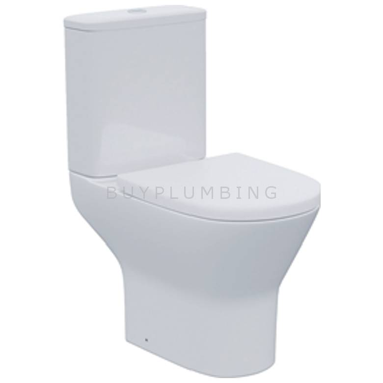Hygienic Bathrooms Rimless Close Coupled Toilet Pan & Cistern With Soft Close Seat