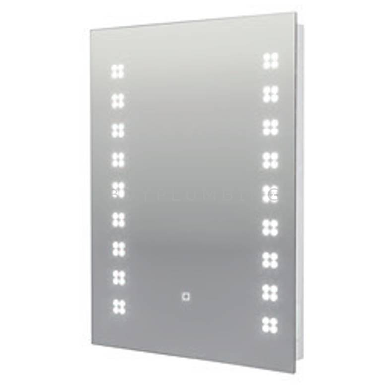Hygienic Bathrooms Vertical Fitting Mirror With LED Lighting H700 x W500mm