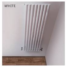 Hygienic Bathrooms 4 Bar Vertical Single Oval Column Radiator H1800 x W240mm (White)