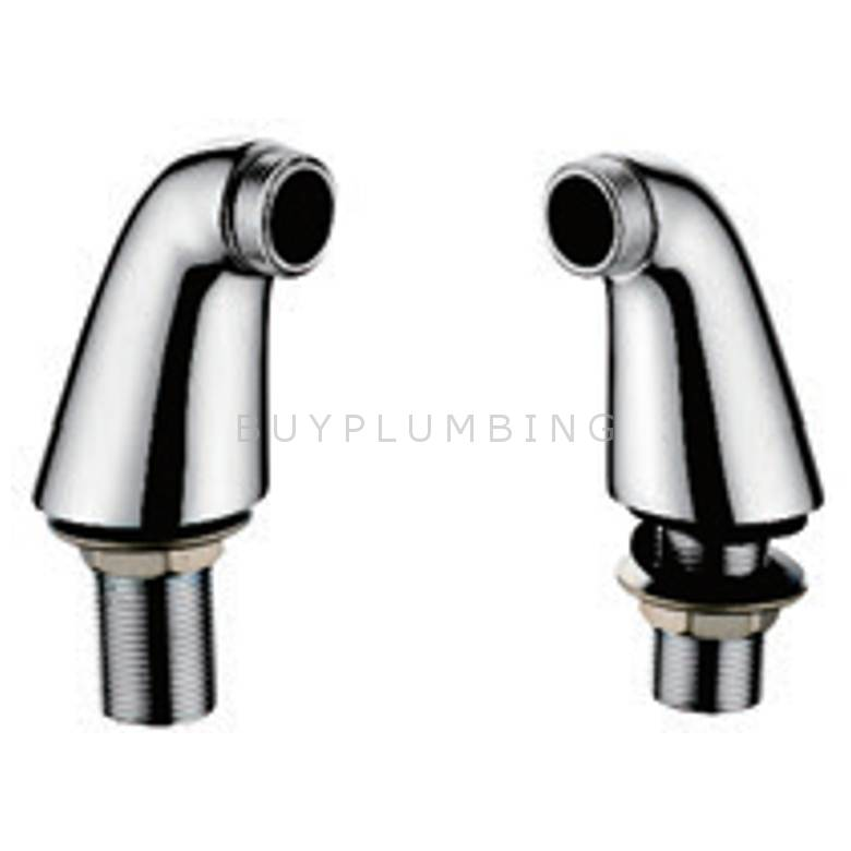 Hygienic Bathrooms Deck Mounted Bath Pillars (Pair) (PB101)