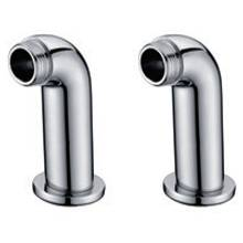 Hygienic Bathrooms Deck Mounted Bath Pillars (Pair) (PB102)