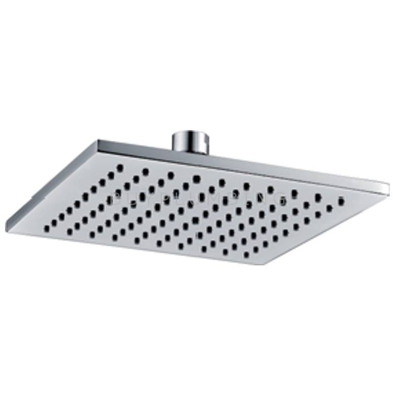Hygienic Bathrooms Chrome Plated ABS 200mm Square Shower Head (Q2001)