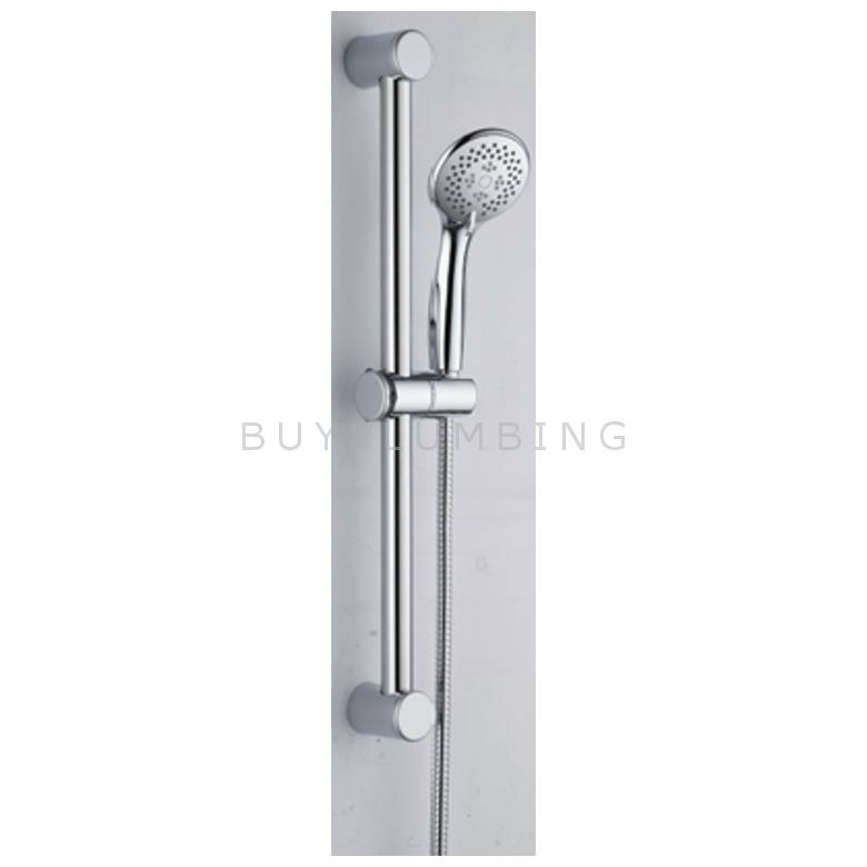 Hygienic Bathrooms Stainless Steel Round Slider Rail Kit With 3 Mode Handset