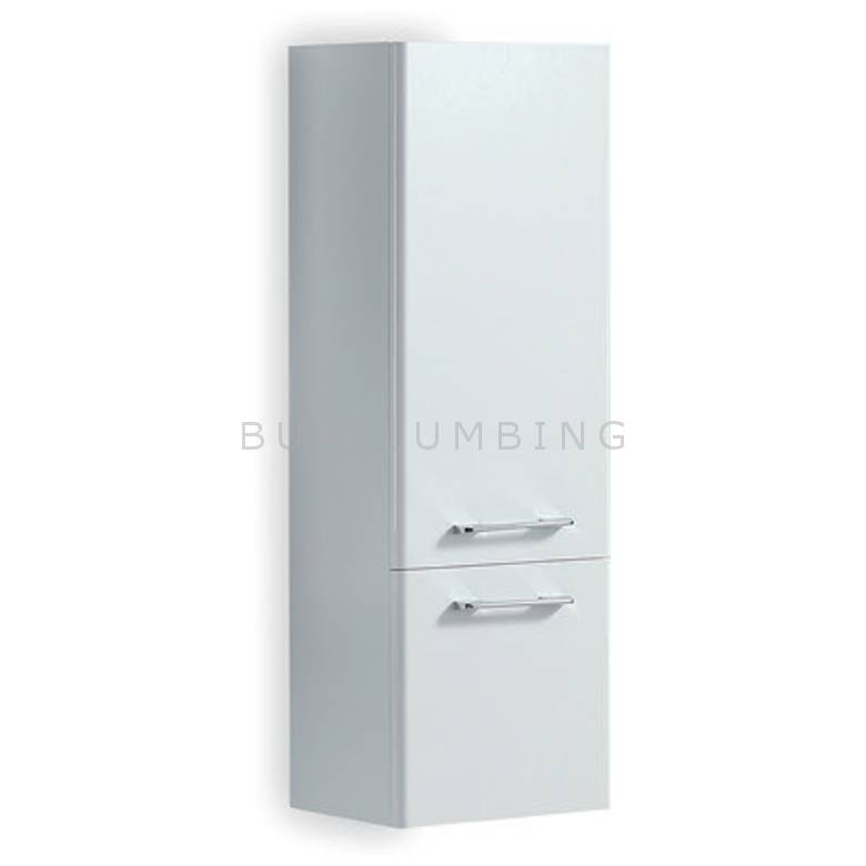 Hygienic Bathrooms Lauren White Wall Hung Side Cabinet H1000 x W350mm (R350T-W)