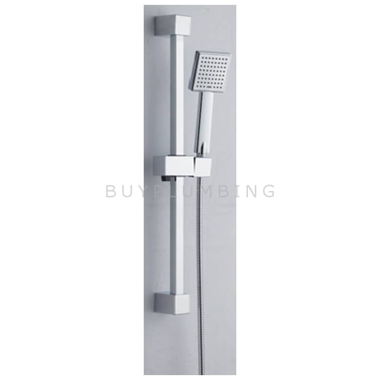 Hygienic Bathrooms Stainless Steel Square Slider Rail Kit With ABS Handset (R403)