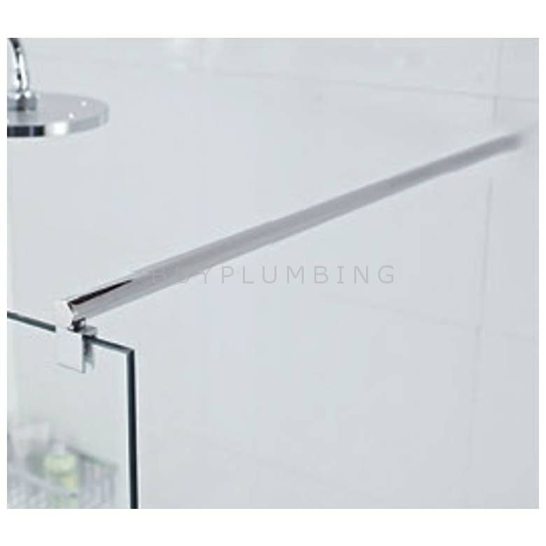 Hygienic Bathrooms 1000mm Wetroom Shower Screen Square Support Arm