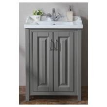 Hygienic Bathrooms Sharaton Stone Grey Two Door Cabinet With Basin H820 x W600mm