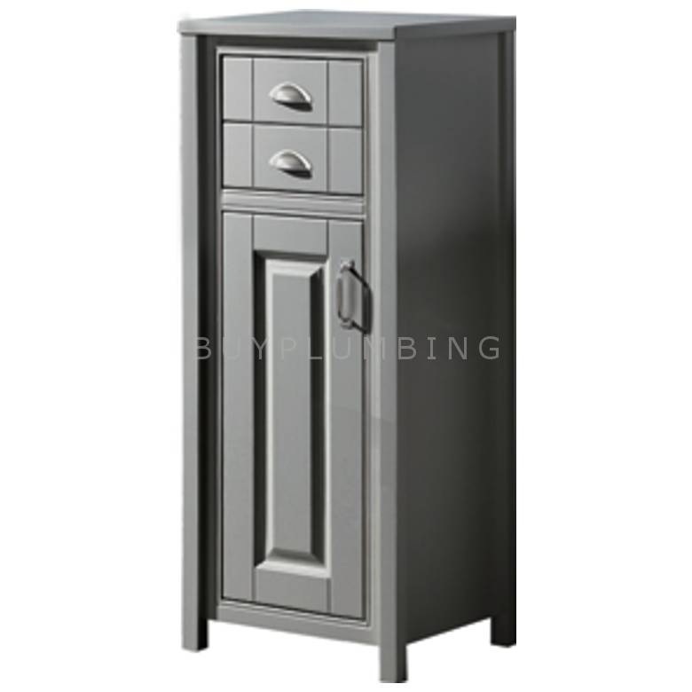 Hygienic Bathrooms Sharaton Stone Grey One Door & Two Drawer Cabinet H1187 x W465mm