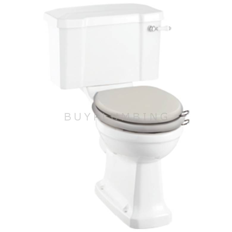 Hygienic Bathrooms Hilton Ivory Traditional Soft Close Toilet Seat