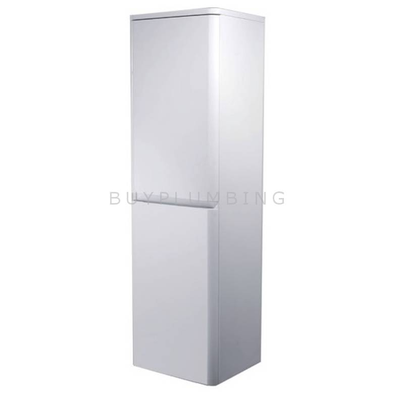 Hygienic Bathrooms Stirling White Gloss Wall Mounted Storage Cabinet H1220 x W350mm (TC350A-3)