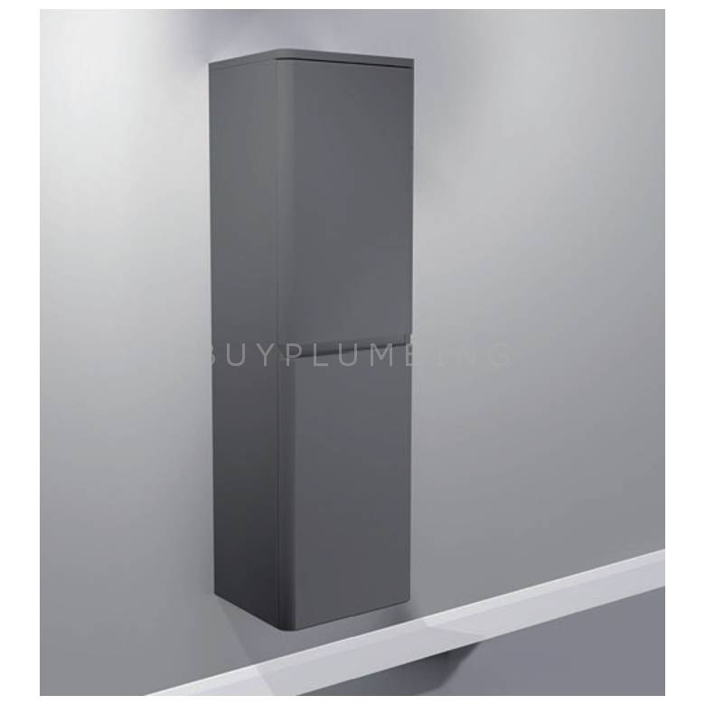 Hygienic Bathrooms Stirling Grey Gloss Wall Mounted Storage Cabinet H1220 x W350mm (TC350G-3)