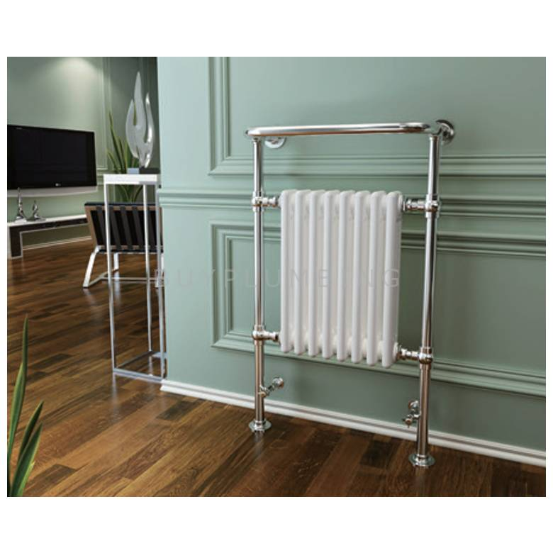 Hygienic Bathrooms Traditional Towel Rail Radiator H963 x W673mm (Chrome/White) (TD9667W)