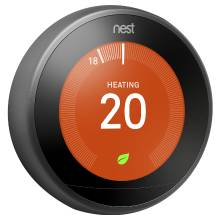 Nest 3rd Generation Black Digital Learning Wi-Fi Thermostat (T3029EX)