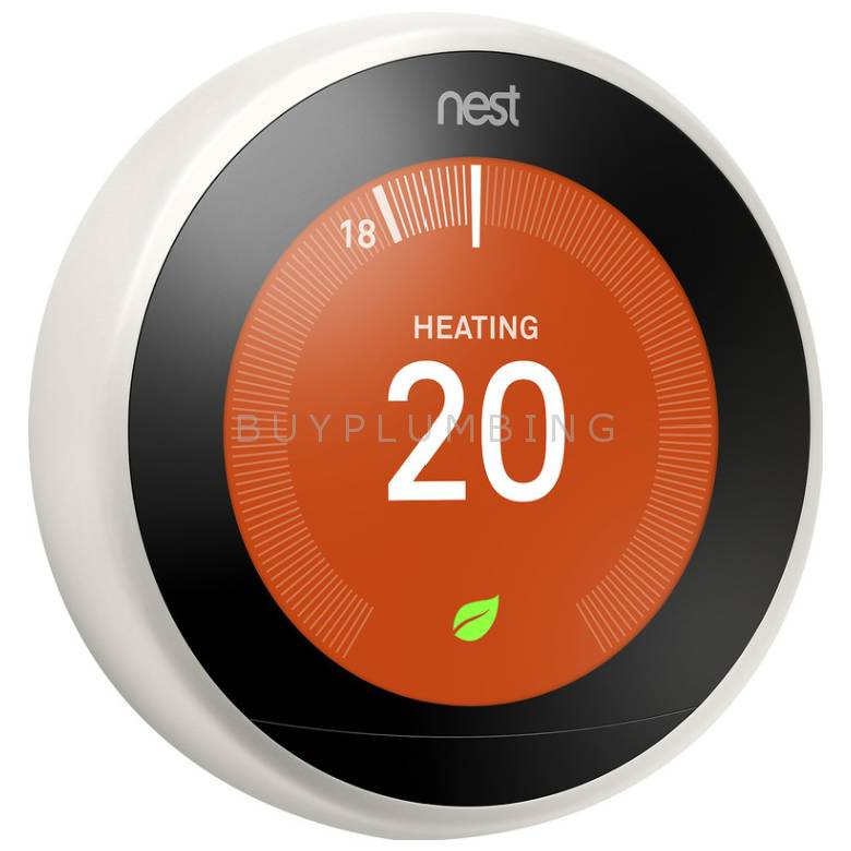 Nest 3rd Generation Digital Learning Wi-Fi Thermostat (White)