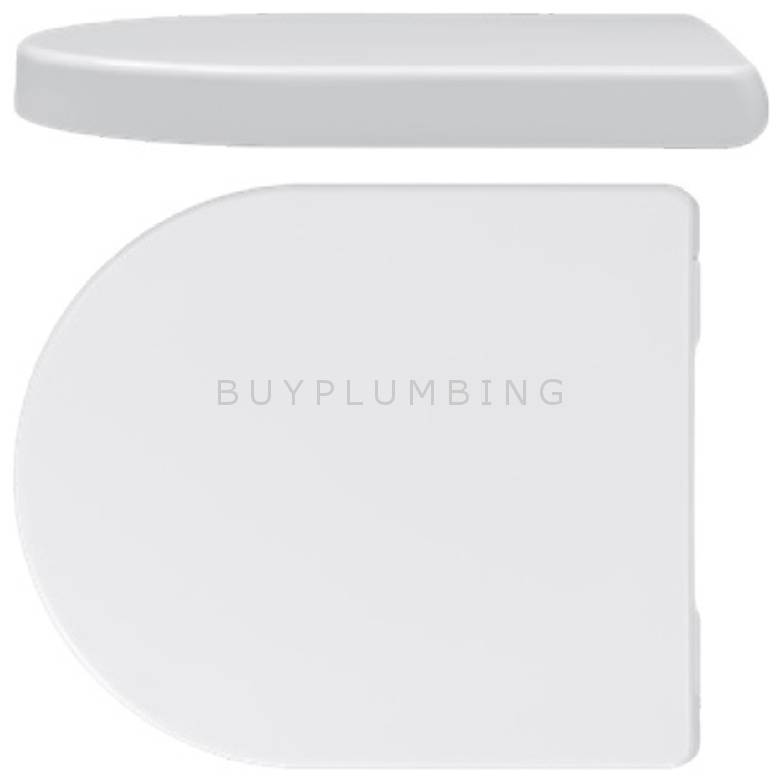 Taurus Dee D-Shape Soft Close Toilet Seat With Stainless Steel Hinges (TSDEE)