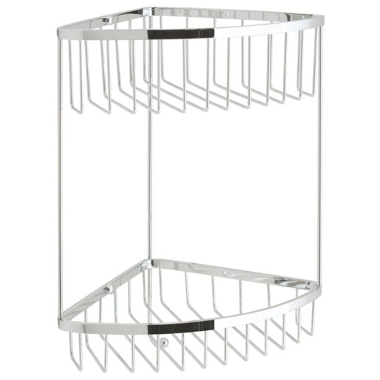 Vado Baskets Large Double Triangular Corner Basket With Hook