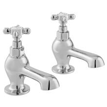 Vado Axbridge Cross Handle Bath Pillar Taps In Chrome (BC-AXB-136-CP)