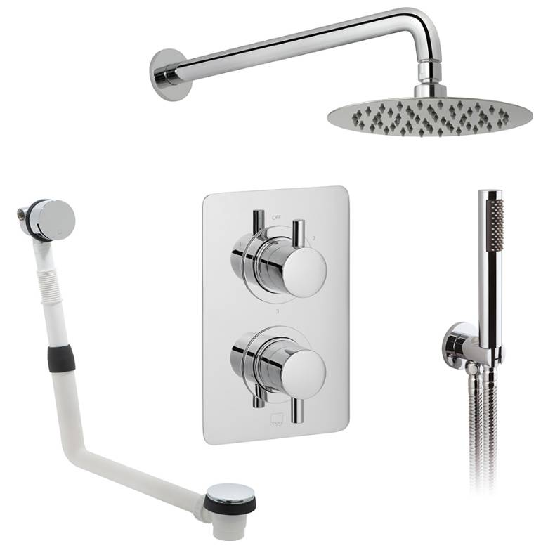 Vado Celsius 3 Outlet Thermostatic Shower Set (DX-173252-CELSQ-CP)