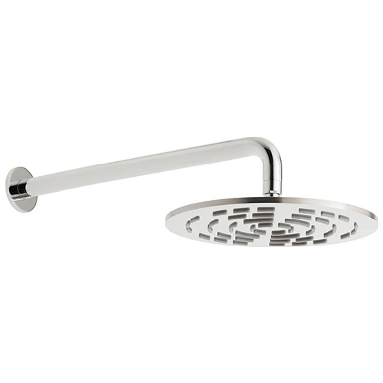 Vado Geometry 250mm Round Shower Head & Arm (GEOM-250RO-SA-SS)