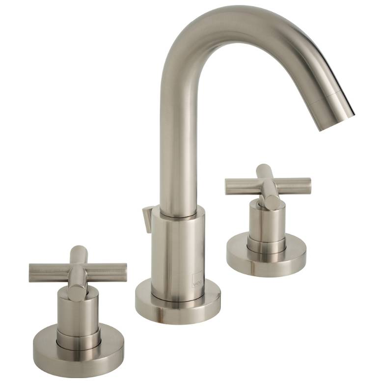 Vado Elements Brushed Nickel Deck Mounted Basin Mixer With Pop-Up Waste (IND-ELW101-BRN)