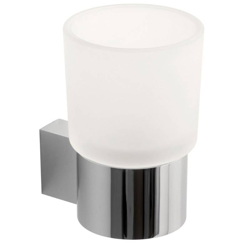 Vado Infinity Frosted Glass Tumbler & Holder (INF-183-C/P)