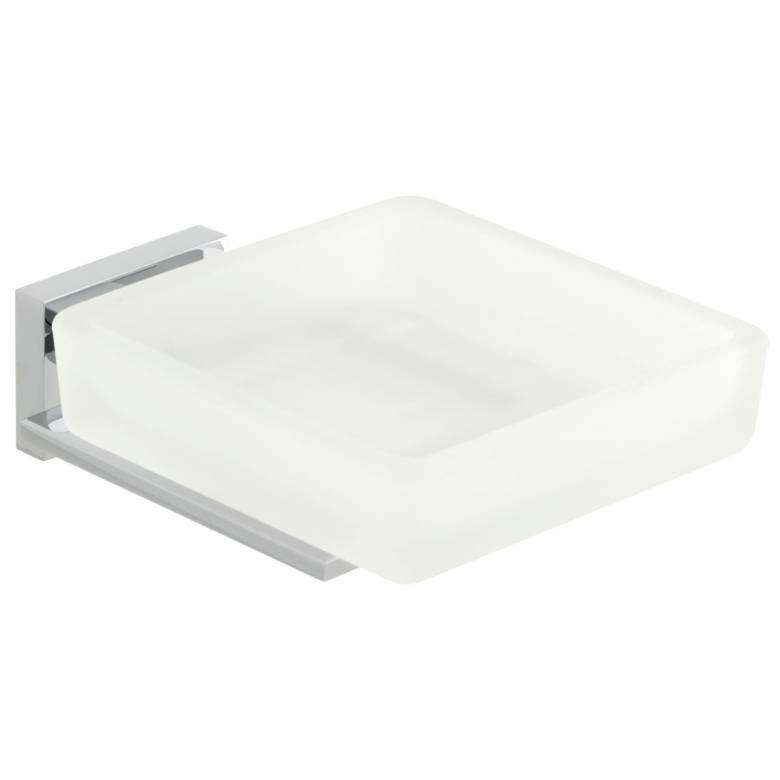 Vado Level Frosted Glass Soap Dish & Holder (LEV-182-C/P)
