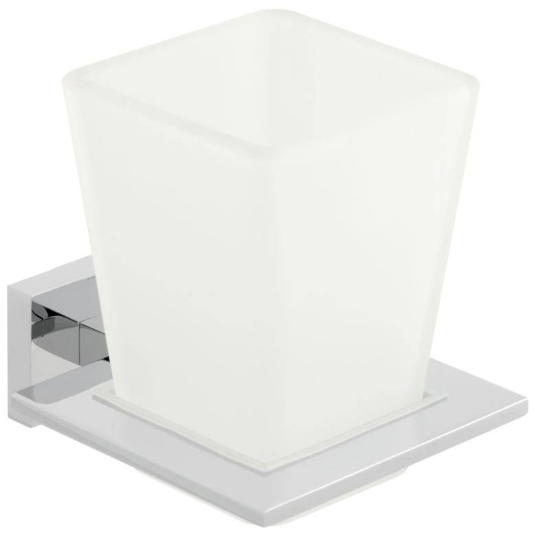 Vado Level Frosted Glass Tumbler & Holder (LEV-183-C/P)