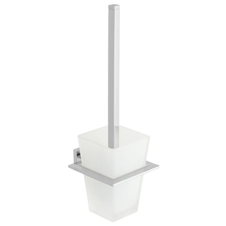 Vado Level Toilet Brush & Frosted Glass Holder (LEV-188-C/P)