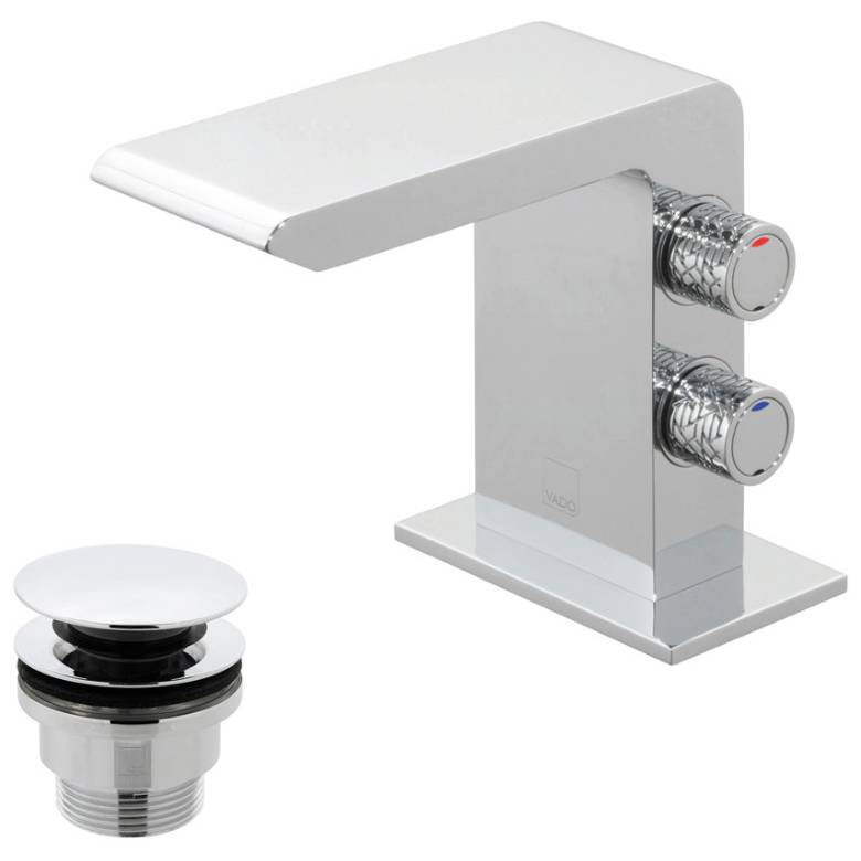 Vado Omika Mini Mono Basin Mixer With Universal Waste (OMI-100M/CC-C/P)