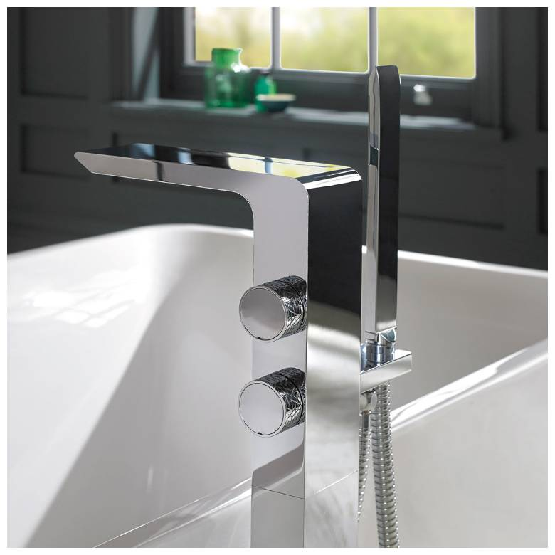 Vado Omika Floor Standing Bath Shower Mixer With Shower Kit