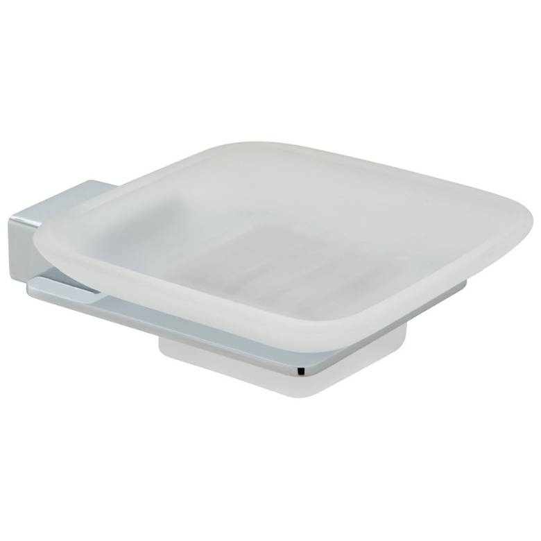 Vado Phase Frosted Glass Soap Dish & Holder