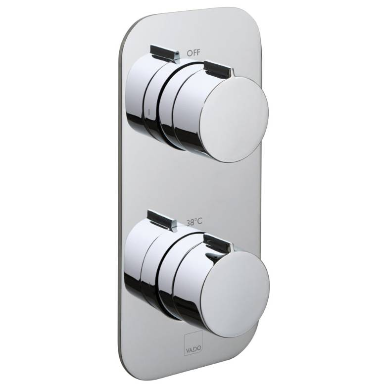 Vado Altitude 2 Outlet, 2 Handle Thermostatic Valve With All-Flow Function (TAB-148/2-ALT-C/P)