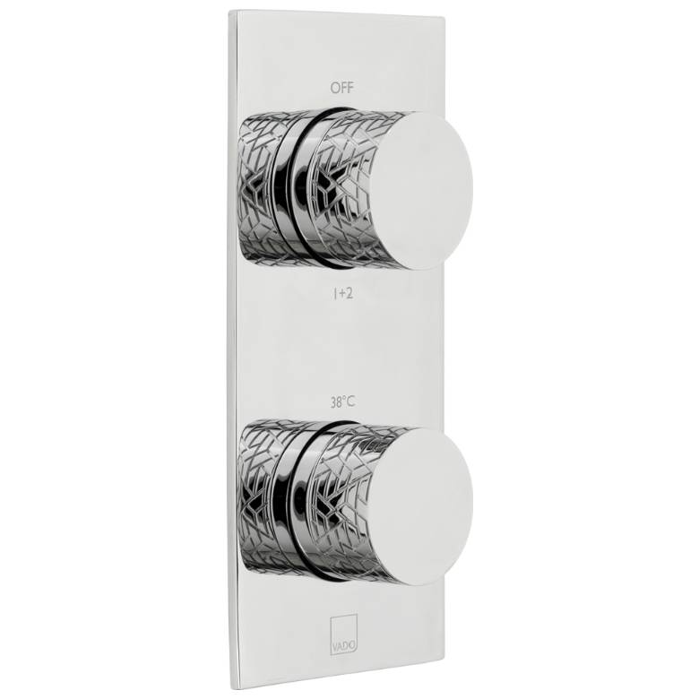 Vado Omika 2 Outlet, 2 Handle Thermostatic Valve With All-Flow Function (TAB-148/2-OMI-C/P)